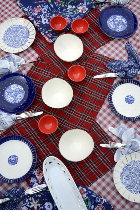 five patriotic dining table designs boho style