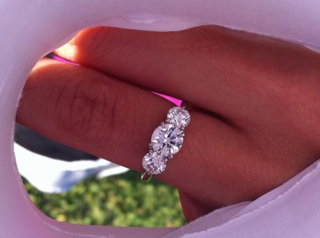 Third Stone's a Charm in this ID Jewelry Engagement