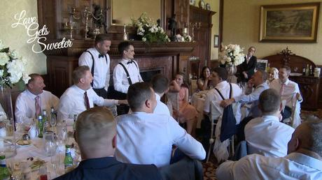 the best men entertaining the wedding guests at armathwaite hall