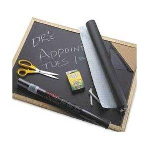 Image: Con-Tact Self Adhesive Chalkboard Contact Paper Black - Self-adhesive coverings are fully re-positionable and easy-to-remove with no residue left behind