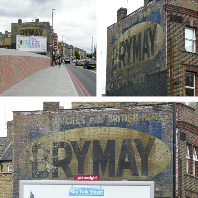 Brymay ghostsign revealed at Upper Holloway