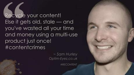 content repurposing by Sam Hurley