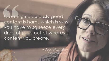 content repurposing by Ann Handley
