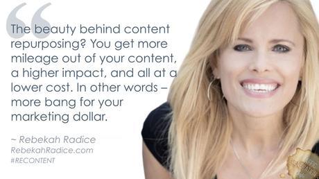 content repurposing by Rebekah Radice