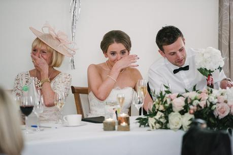 bride crying at fathers speech