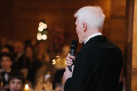 brides father giving a speech