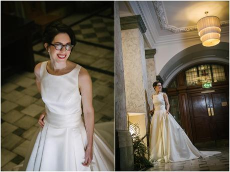 bride at the town hall