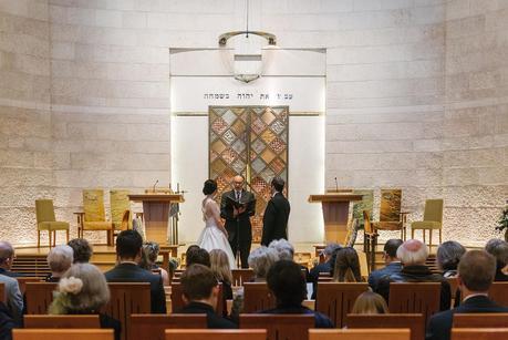 a jewish wedding ceremony taking place