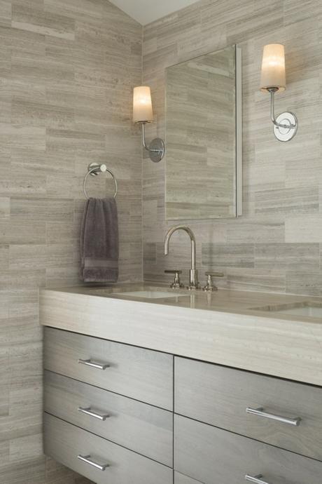 Neutral Clean Line Bathroom In Maine