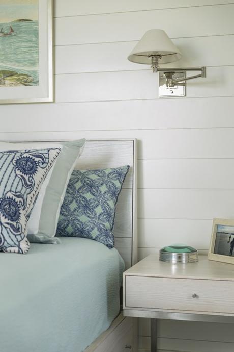 Green & Blue Beach House Guest Bedroom