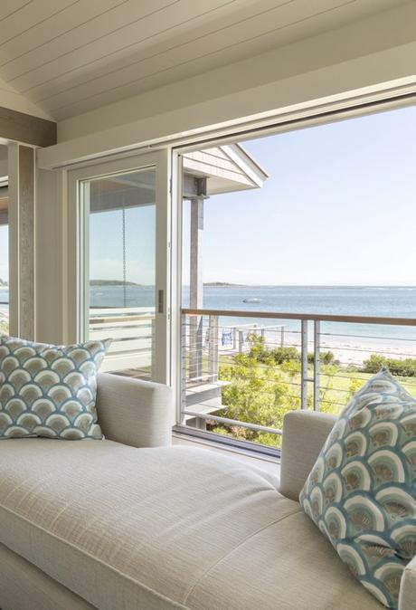 View Of Atlantic Ocean From Maine Beach House