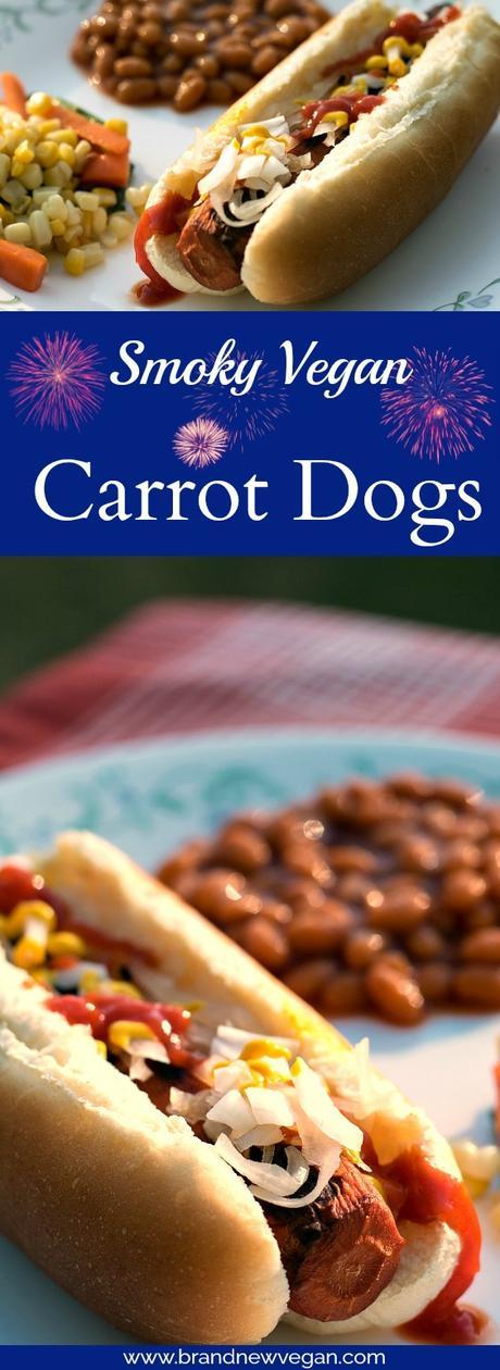 smoky vegan carrot dogs