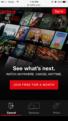 how to create netflix account page