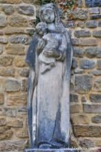 Old Statue of Mary and Jesus - Orval