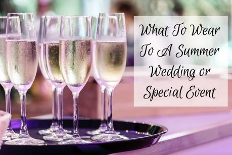 champagne glasses ready to toast - Susan B. shares what to wear to a summer wedding or special event