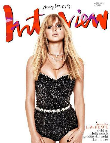 A Celebrity Moment: Jennifer Lawrence Covers Interview Germany