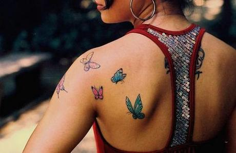Popular Girly Butterfly Tattoos Popular Girly Butterfly Tattoos