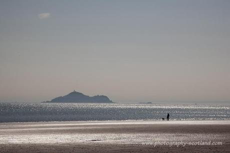 Landscape picture- Inchkeith Island in the Forth estuary