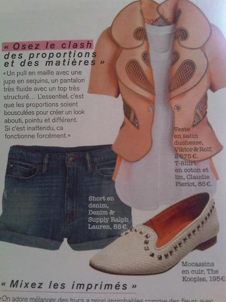 Flicking through this months Glamour magazine and this litle combination caught my eye. I cant say its exaclty my style but i think its an interesting, feminine and chic combination. From the Victor & Rolf jacket, the Ralph Lauren shorts to The Kooples shoes; a lovely summery outfit perfect for the streets of Paris! xoxo LLM