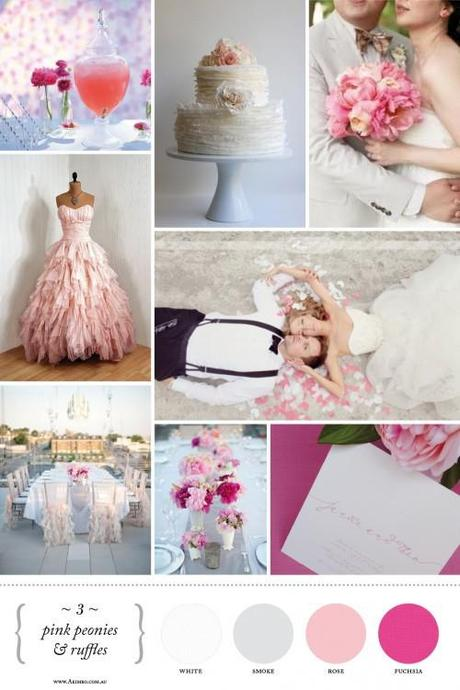 Beautiful Pink Ruffle Inspiration Board