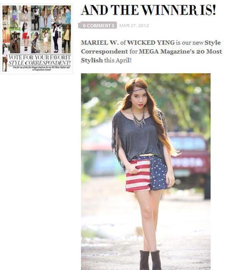 I'm MEGA Magazine's 5th Style Correspondent