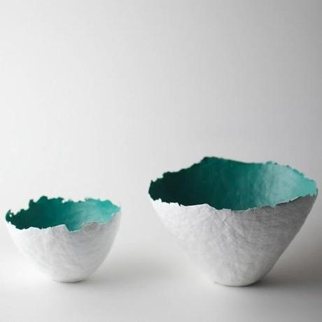 Aqua Color Burst Bowls