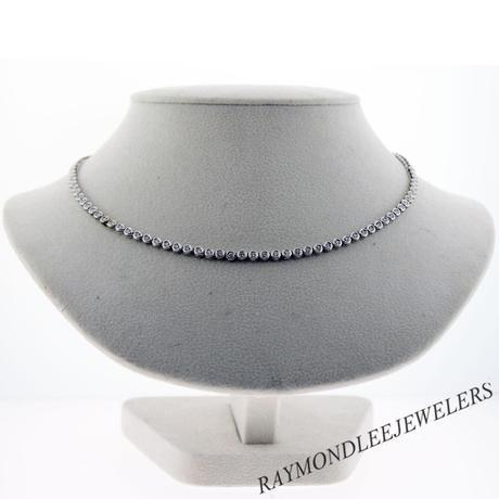 diamond necklace, tennis necklace, Boca Raton diamond, Boca diamond, wedding necklace, wedding jewelry, Raymond lee jewelers, pre-owned tennis necklace, preowned diamond