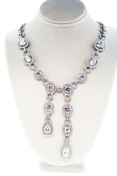 Diamond Necklace, wedding jewelry, wedding day jewelry, right jewelry for your wedding dress, diamonds, diamond Boca Raton, FLorida diamond, estate diamond, vintage diamond necklace, Raymond Lee Jewelers