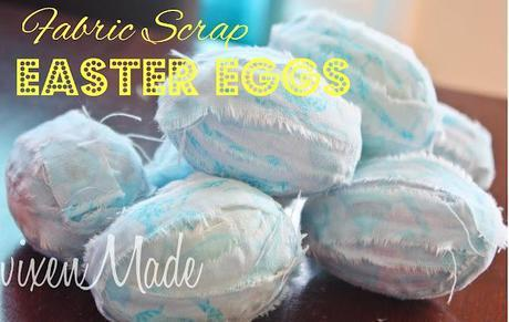 Fabric Scrap Easter Eggs