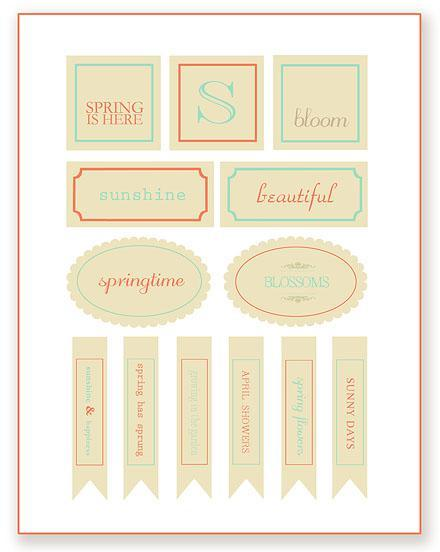 Free Printable Friday:  Spring!