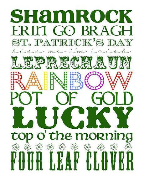 FPF: 10 St. Patrick's Day Subway Art Printables