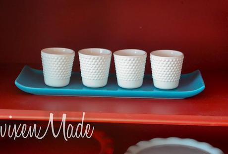 White Hobnail Votives