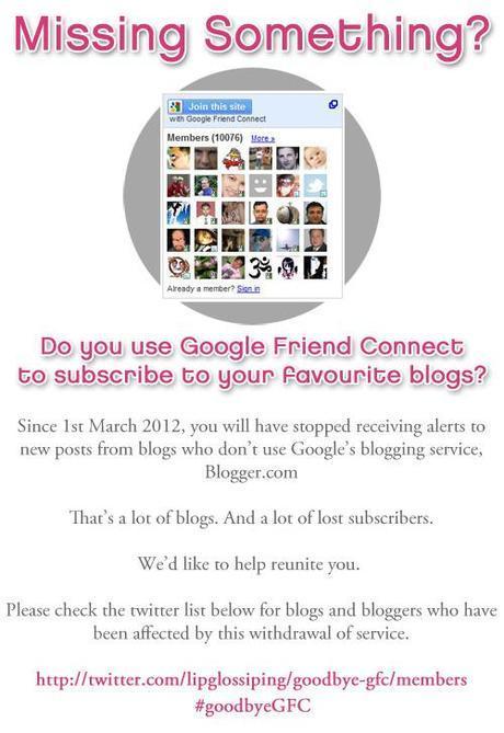 Help a Fellow Blogger #GoodbyeGFC