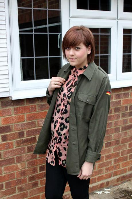 What Scarlett Wore - army shirt