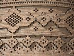 Intricate brick mosaics cover the Arg of Karim Khan's exterior East tower