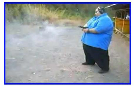 Random Video Find: Fat Man Shooting a Gun.