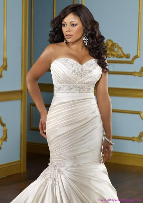 Sophisticated plus size wedding dresses make you fabulous for Best wedding dress styles for plus size brides