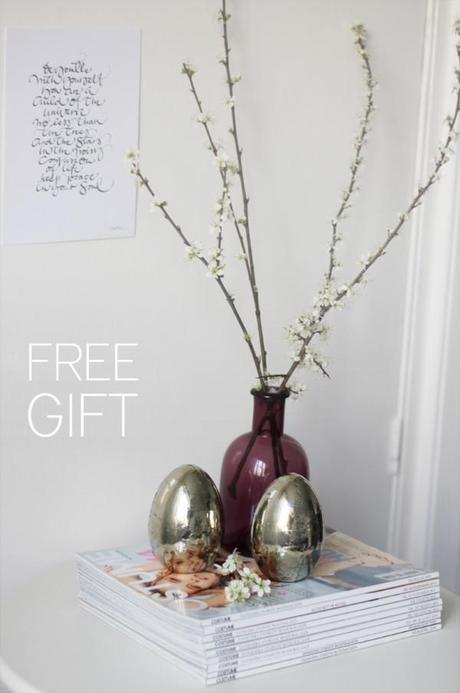 Free gift when placing an order
