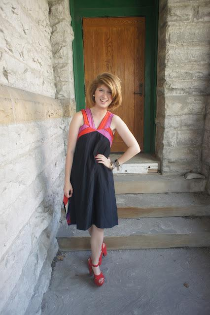 Outfits post: Navy, Pink & Red