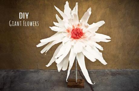 DIY Giant flowers for your wedding