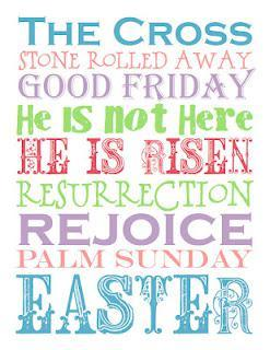 Free Printable Friday:  Easter; With Meaning