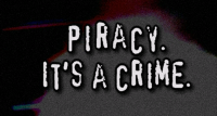 An unskippable anti-piracy film included on mo...