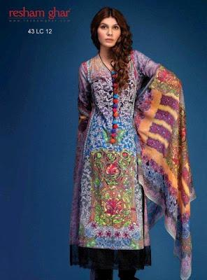 Resham Ghar Lawn Prints For Summer 2012