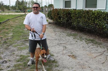 volunteer walking dog, adopt a dog, rescue dog, big dog ranch, Raymond Lee Jewelers