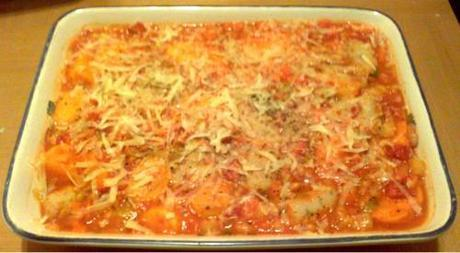 Sausage, Leek & Sweet Potato Bake