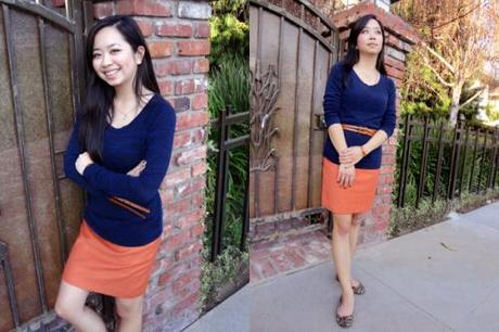 4 Ways To Style An Orange Skirt