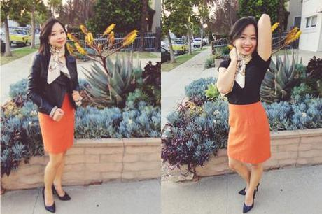 4 Ways To Style An Orange Skirt