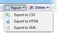 Export duplicate report button