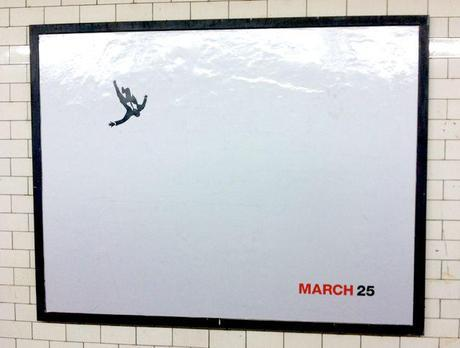 This is an actual, original, unaltered Mad Men poster as displayed in subway stations. Next, see what people did to them...