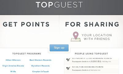 Travel Hacking - Tip #4 - Topguest Foursquare Hack